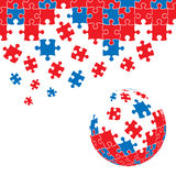 Puzzlespielstückauslegung Lizenzfreies Stockfoto