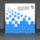 Puzzlespielstückauslegung-Flugblattauslegung Stockbilder