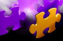 Puzzlespielstücke Lizenzfreie Stockfotografie