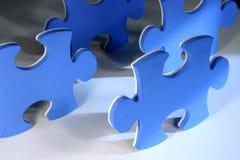 Puzzlespielstücke Stockfotografie