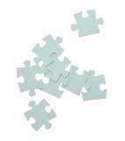Puzzlespielstücke stockbild