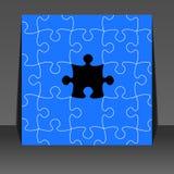 Puzzlespielstücke - Flugblattauslegung lizenzfreies stockfoto