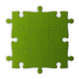 Puzzlespielstücke mit Ausschnittspfad Lizenzfreie Stockfotografie