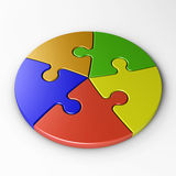 Puzzlespielstücke mit Ausschnittspfad Stockfotos