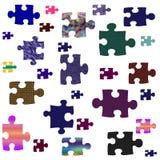 Puzzlespielstücke sortiert stock abbildung