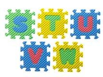 Puzzlespielstücke vereinbart Lizenzfreies Stockfoto
