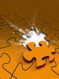 Puzzlespielszene Lizenzfreie Stockbilder