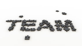 Puzzlespielteam Stockfotografie