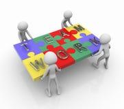 Puzzlespielteamarbeit lizenzfreie abbildung