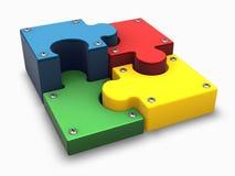 Puzzlespieltortediagramm Stockfotos