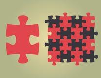 Puzzlespieluniversalform im Vektor Lizenzfreie Stockfotografie
