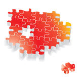 Puzzlespielvektor Stockfotos