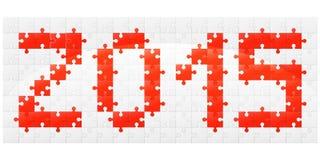 Puzzlespielvektorillustration des neuen Jahres Lizenzfreie Stockfotografie