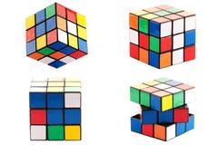 Puzzlespielwürfel stockfoto