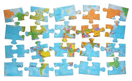 Puzzlespielwelt Stockfotografie