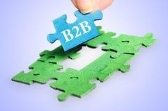 Puzzlespielwort B2B Lizenzfreies Stockbild