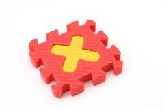 Puzzlespielzeichen X lizenzfreies stockfoto