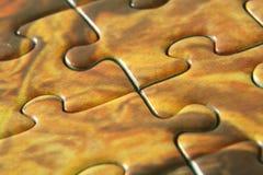 Puzzlespielzeilen stockbild