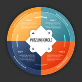 Puzzling Circle Infographic Stock Photo