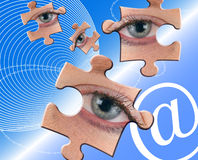 Puzzling communications Stock Image
