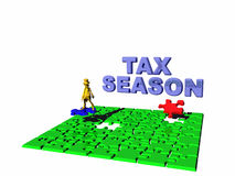 The puzzling tax season. Royalty Free Stock Photos