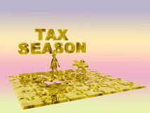 The puzzling tax season. Stock Image
