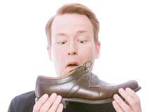 Puzzo della scarpa Fotografie Stock Libere da Diritti