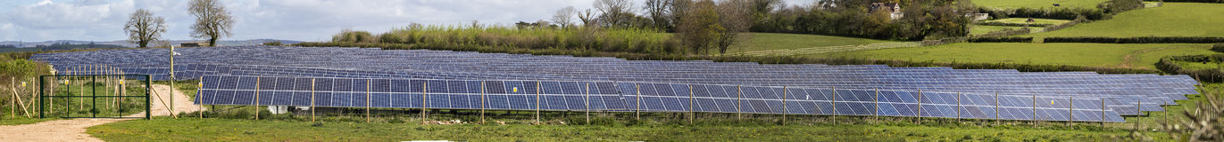 PV solar farm stich Stock Photography