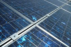 PV system. Photovoltaic cells in a solar panel stock photos