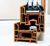 PVC窗口的外形系统 图库摄影