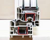 PVC窗口的外形系统 库存图片