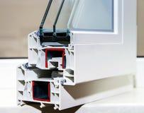 PVC窗口的外形系统 免版税库存照片