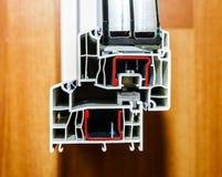 PVC窗口的外形系统 库存照片