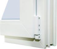 PVC窗口的外形系统 免版税图库摄影