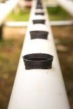 PVC管为水耕做准备 免版税库存照片