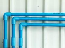 水PVC管子部分 库存图片