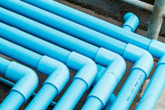 水PVC管子部分 免版税库存图片