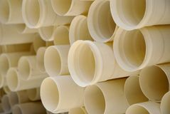 PVC. Pipes for sewage and water and construction in general Stock Images