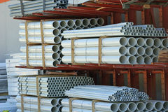 PVC. Stacks of PVC plumbing pipe Stock Photography