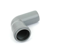 Pvc 90 degree elbow fitting Stock Image