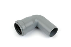 Pvc 90 degree elbow fitting Stock Photo