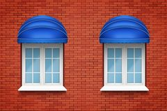 PVC arch windows with awning