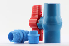 PVC ball valve and fittings Stock Photography