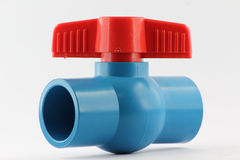 PVC ball valves Stock Photo