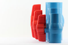 PVC ball valves Royalty Free Stock Image