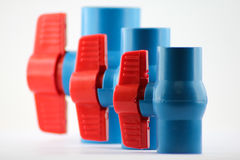 PVC ball valves Royalty Free Stock Images