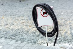 The pvc black electrical cable. stock photography