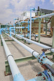 PVC Chemical pipe line Stock Photography