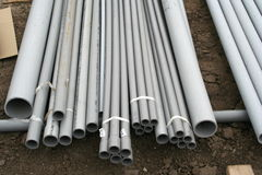 PVC conduit Stock Photo