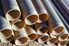PVC das tubulações Foto de Stock